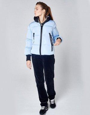 Куртка утепленная женская (голубой/черный)