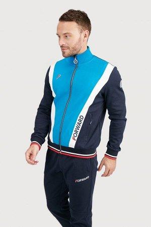 Куртка тренировочная мужская (синий/голубой)