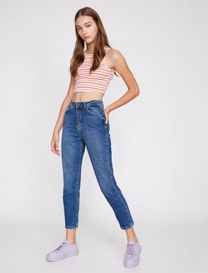 Джинсы MOM PRODUCT DETAILS  Relaxed Fit, High Rise, Light Slim Leg Jeans  Material:  %100 Cotton  Model Size Information:  Height: 180 cm, Breast: 82, Waist: 61, Hip: 90 Model Size: 27/32