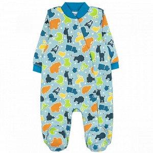 Комбинезон футер 0120300602 для новорожденного