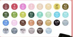 Набор спиртовых маркеров Touch mark/ Аниме 30 цветов