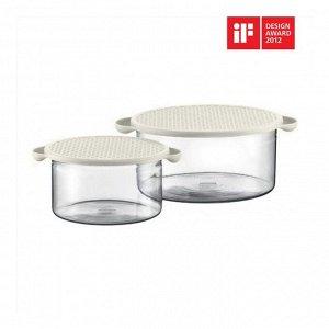 Набор емкостей для запечания универсальных Hot Pot 2 шт. (1 л., 2.5 л.) белый