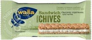 Хлебцы WASA ржаной сандвич с начинкой из сыра и зеленого лука