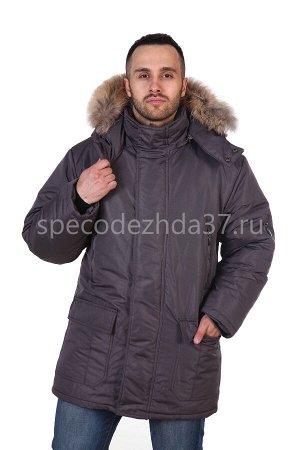 """Куртка рабочая зимняя """"Инерт"""" мех. воротник цв.серый"""