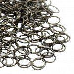 Кольца черные (вороненая сталь) 6 x 0,7 мм. Цена за 20 шт