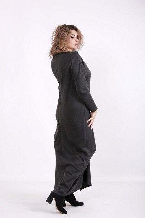 Платье 1590-3 серый
