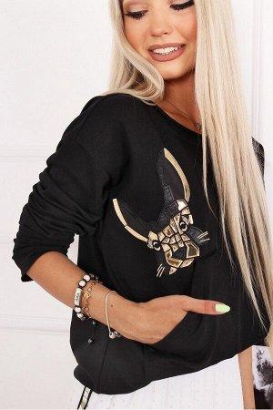 Блуза ALEKSSANDRA MIDO чёрный