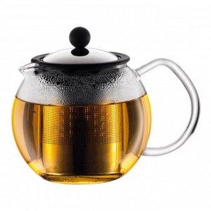 Чайник заварочный с прессом Assam 0.5 л. хром