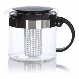 Набор чайный Bistro 3 предмета (чайник заварочный с прессом Bistro 1 л. чёрный, набор термобокалов Pavina Outdoor 0.25 л. - 2 шт.)