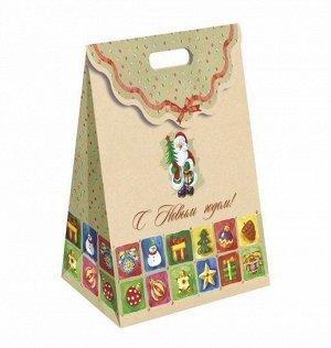 Упаковка для новогоднего подарка Пакет С Новым Годом!