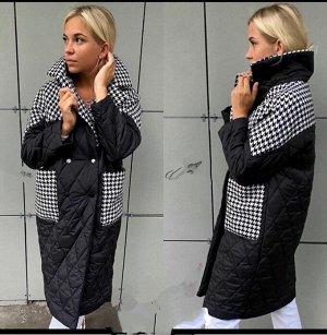 """Пальто Эти пальто невозможно назвать базовыми - посмотрите , вставки стильного принта : """" гусиная лапка"""" и стеганный дизайн - созданы для привлечения внимания и не требуют дополнения ."""