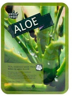 May Island Real Essense Aloe Mask Pack Тканевая маска для лица с экстрактом  алое