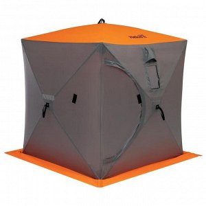 Палатка зимняя Helios куб, 1,5 ? 1,5 м, цвет orange lumi/gray