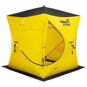 Палатка зимняя «ТОНАР» Helios EXTREME V2.0 куб (широкий вход), 1,8 ? 1,8 м, цвет жёлтый/чёрный