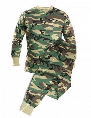 Белье нательное тк.Футер с начёсом цв.Зеленый КМФ