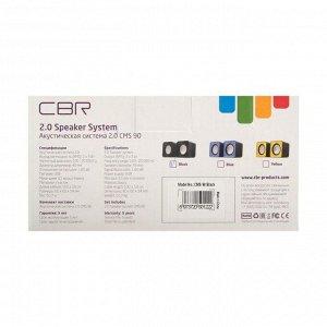 Компьютерные колонки 2.0 CBR CMS 90 Black, 2х3 Вт, USB, черные