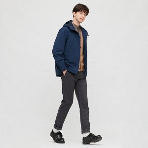 р,62-64 UNIQLO Японии! Теплые брюки, темно-серый,