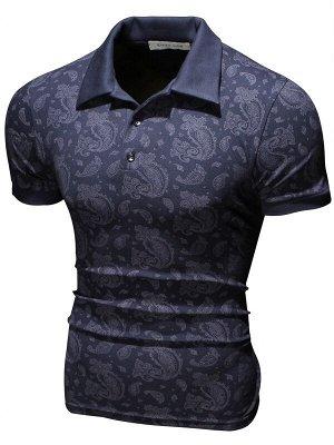 Поло Weave Dark Blue