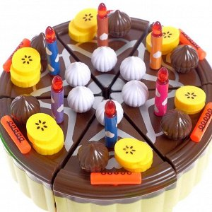 Игровой набор продуктов «Тортик», с посудой