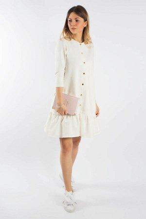 Платье кремовый