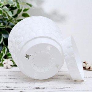 Кашпо с поддоном «Камни», 8 л, d=26 см , цвет белый