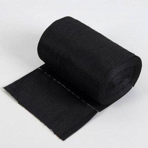 Набор одноразовых воротничков, без липкого слоя, 7 ? 40 см, 100 шт в рулоне, цвет чёрный