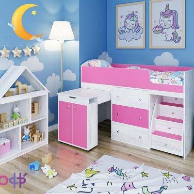 Кровать-чердак: уютная детская 🌙