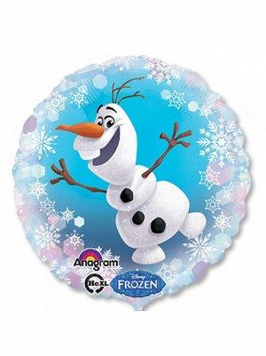"""Фольга шар Frozen Олаф S60 18""""/46 см Anagram"""