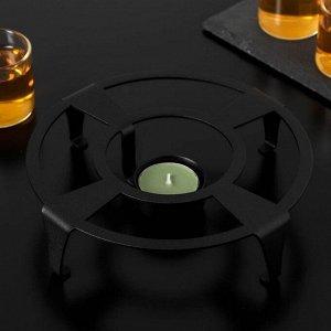 Подставка для подогрева «Ралли», d=18,6 см, цвет чёрный