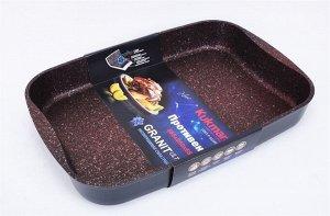 """Противень Противень """"Kukmara""""  позволит превратить обыкновенный процесс приготовления пищи в приятное и легкое занятие для любой хозяйки.  Размеры (Ш х В х Д): 270 x 55 x 370.  Особенности противня """"K"""