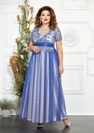 Платье Платье Mira Fashion 4827-3  Состав: ПЭ-98%; Спандекс-2%; Сезон: Осень-Зима Рост: 164  Роскошное, нарядное женское платье выполненое из гепюра и шифона(сетки, зависит от модели), в качестве под