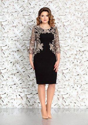 Платье Платье Mira Fashion 4361-3  Состав: Вискоза-25%; ПЭ-73%; Спандекс-2%; Сезон: Осень-Зима Рост: 164  Очень торжественно и гламурно, так можно охарактеризовать это платье! Оно покорит Вас с перво