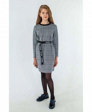Платье Платье прямого кроя, в комплекте с ремнем состав:трикотажный жаккард хлопок -25% ,полиэстер- 70% , лайкра - 5%