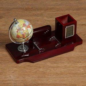 Набор настольный 5в1 (часы, карандашница, глобус, визитница, подставка)
