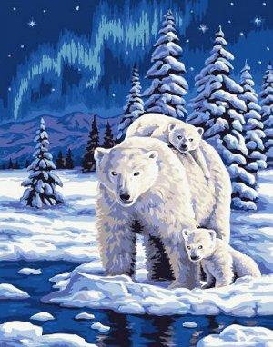 """Набор живописи по номерам 40х50см """"Семейство северных медведей"""""""