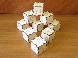 Набор кубиков с буквами