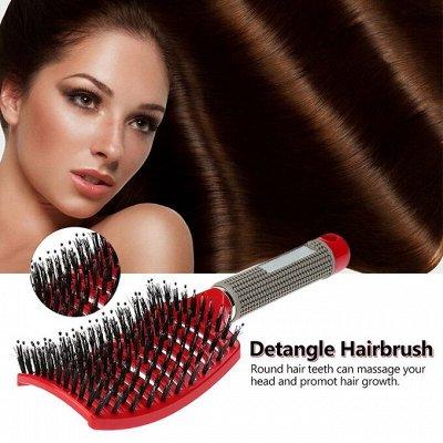 😱МЕГА Распродажа !Товары для дома 😱Экспресс-раздача! 38⚡🚀 — ХИТ! Расческа с добавлением щетины для мокрых волос — Красота и здоровье