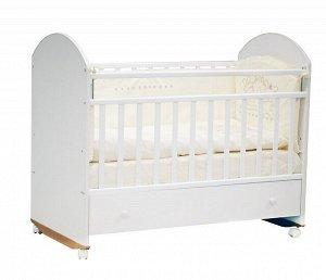 Кроватка детская Bonito колесо/качалка с ящиком, BOkZ
