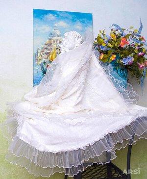 """Плед на выписку """"Венеция"""" (молочный), арт.1033М (лето (t от +15 до +25 С))"""