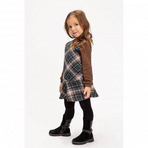 Платье для девочки, цвет коричневый