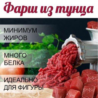 Кальмар 129 рублей за 1 кг… Мидии! Палтус! Креветка! — Фарш тунца! — Свежие и замороженные