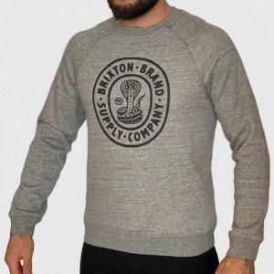 Брендовый мужской свитшот Brixton – стиль темной стороны Лондона №95