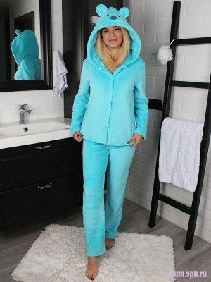 Пижама женская домашняя Bebe Liron Мишка Мама, голубой
