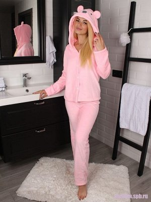 Пижама женская домашняя Bebe Liron Мишка Мама, цвет розовый
