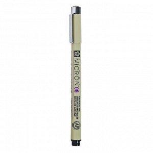 Ручка капиллярная, набор Sakura Pigma Micron, 3 штуки (0.3, 0.4, 0.5), чёрный