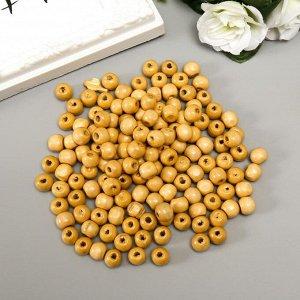 """Бусины деревянные """"Астра"""" круглые, 10 мм, 50 гр, натуральное дерево"""