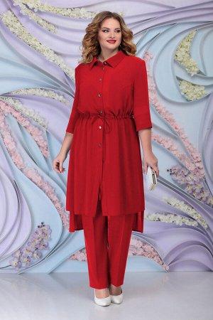 Блуза, брюки, кардиган Ninele Артикул: 2250 красный