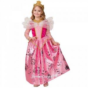 Карнавальный костюм Принцесса Аврора, рост 104 см (Батик)