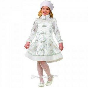 Карнавальный костюм Снегурочка, сатиновый, рост 128 см (Батик)