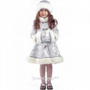 Карнавальный костюм Снегурочка Хрустальная, рост 134 см (Батик)